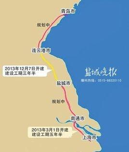 青岛至上海之间的动车高铁列车