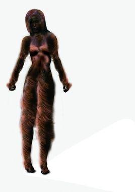 手工制作仿古非洲野人浮雕