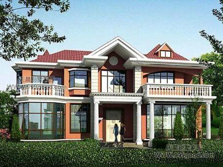 农村自建别墅设计图,两层半也可以大气!