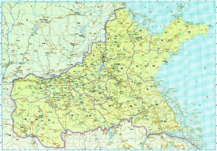 辖五十一县,涵盖山东之海阳,即墨,崂山,胶州,黄岛,临沂,沂水,莒南