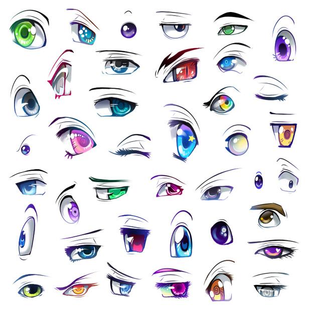 眼睛的画法步骤图片大全