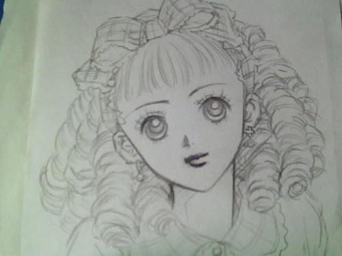 求素描动漫美少女的图片图片