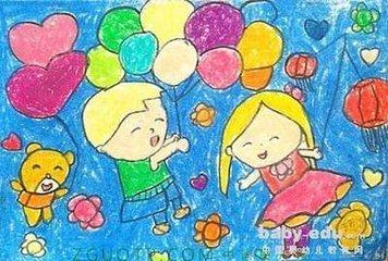 小学三年级欢庆国庆怎么画