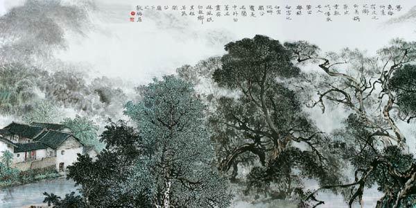 中国山水画尤其是巨幅的长卷山水画