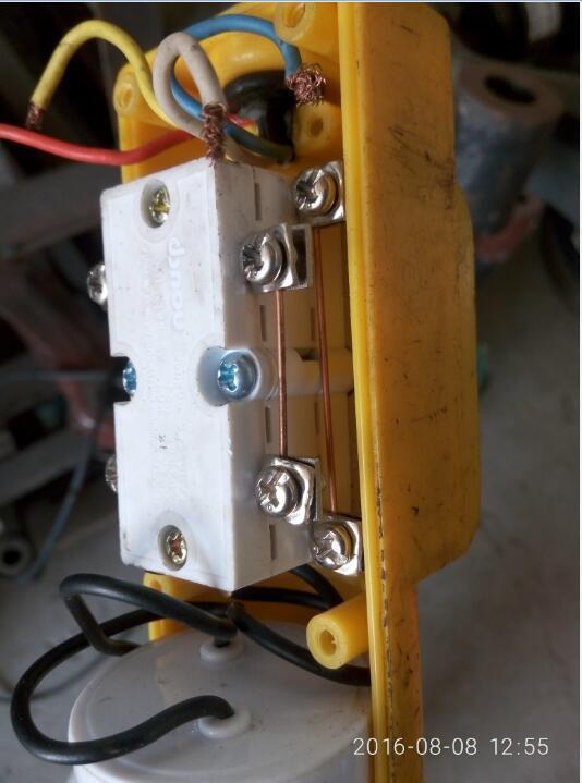 电动升降葫芦的上下按钮手柄四线接线问题