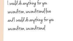 Unconditional 歌词版