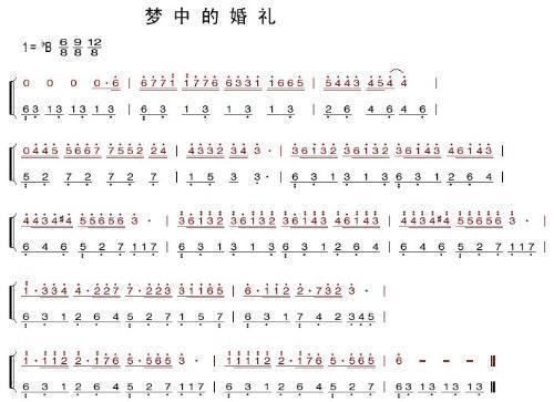 《梦中的婚礼》钢琴简谱及弹琴方法!