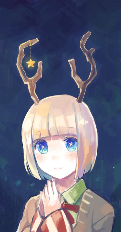 求白发蓝眼睛的动漫女孩图片