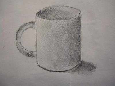 我要一张自己画的 小学生素描杯子的图片 ,要简单点的