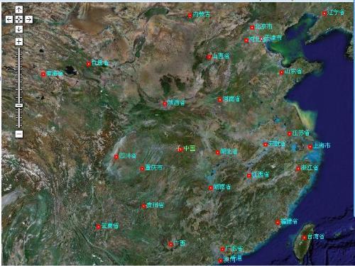 中国 与日本卫星地图图片