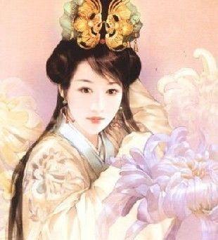 古代女子手绘图片皇后