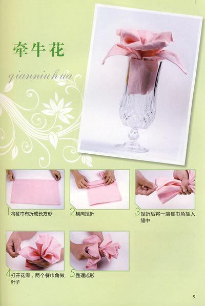 求.餐巾折花的图形步骤